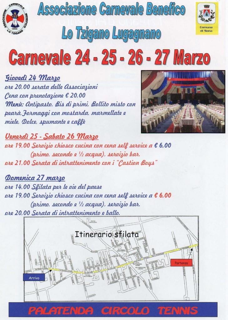 Locandina Carnevale di Lugagnano - Associazioni