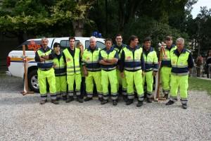 Foto di gruppo del nucleo Protezione Civile di S.O.S